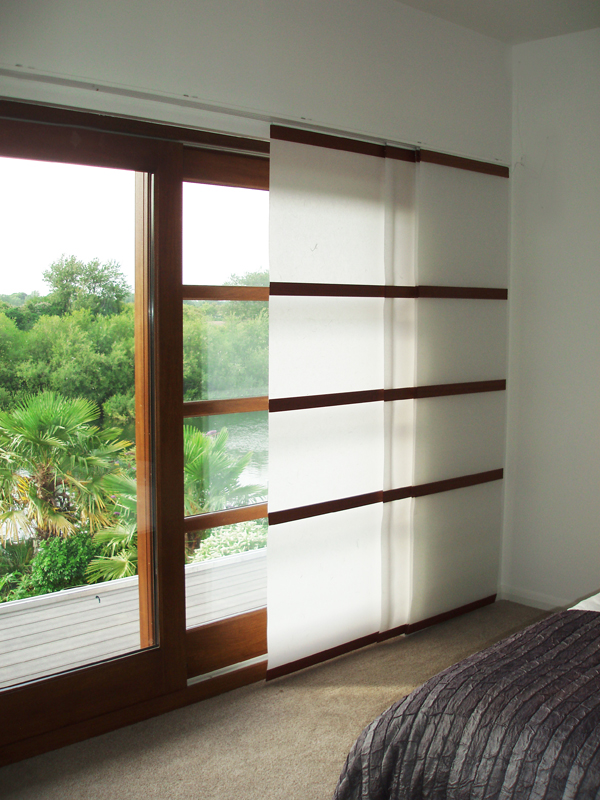 Panel glides japanese sliding panels for Asian window coverings