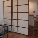 Japanese room divider from living area