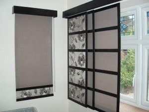 Japanese 'Shoji' blinds on a window