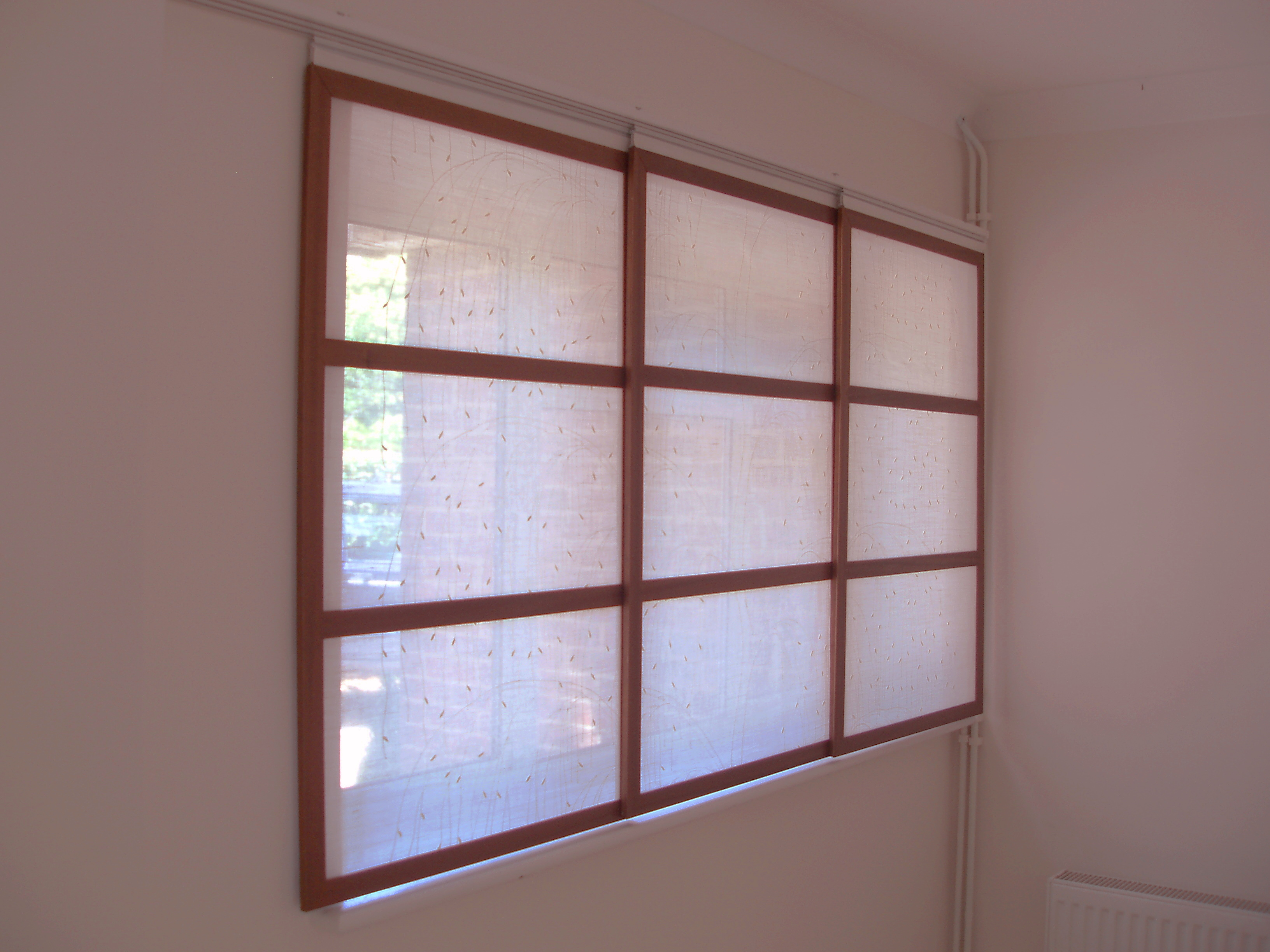 Japanese shoji panel blinds room dividers window blinds for Asian window coverings