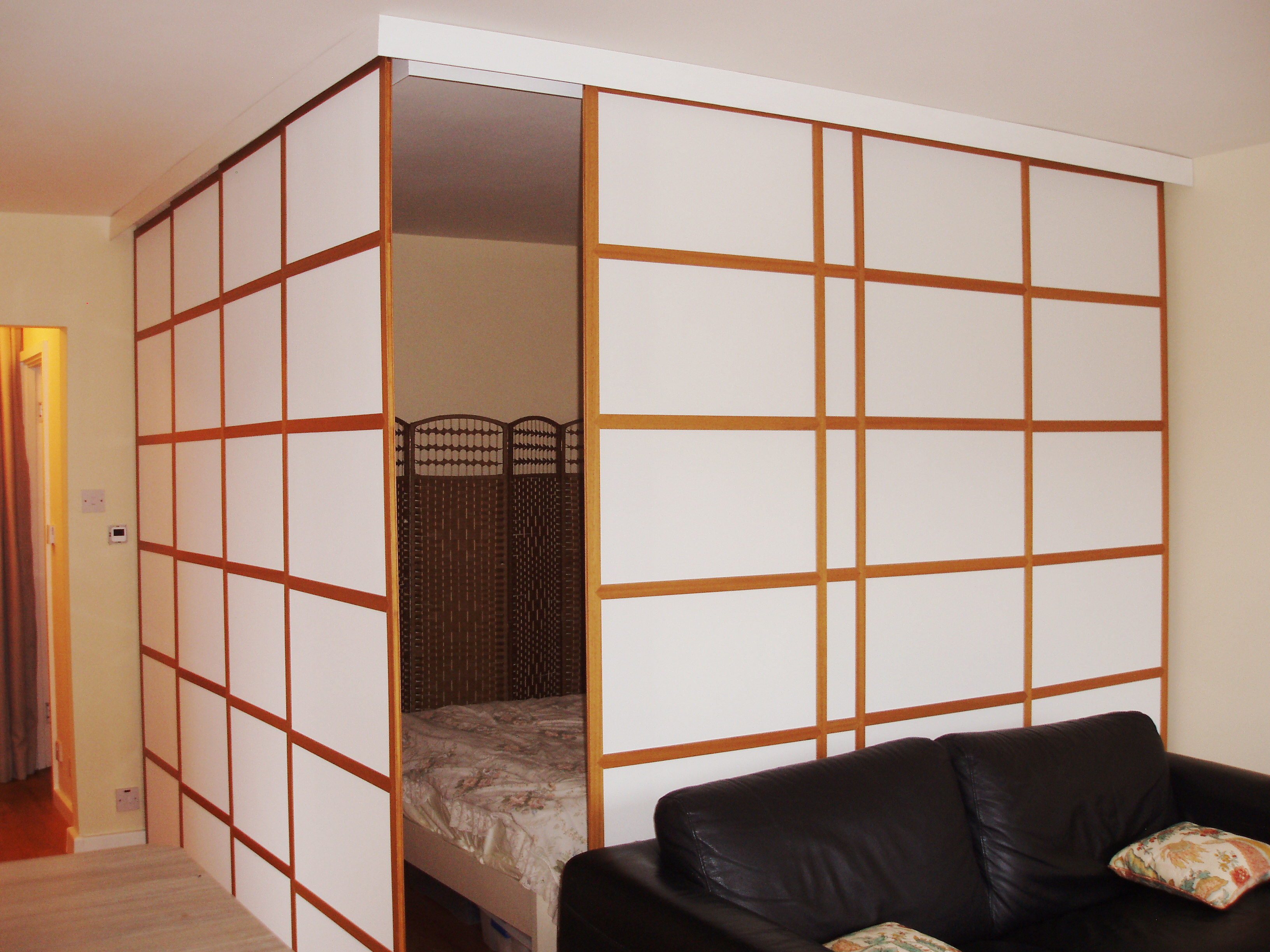 Japanese sliding panels shoji panels blinds supplied for Window dividers